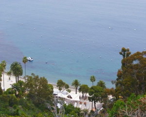 Catalina-Snorkel beach from above