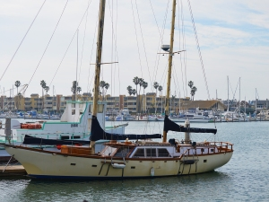 Oxnard harbor old boat