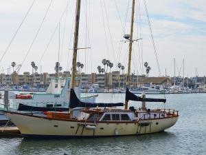 Oxnard harbor old boat