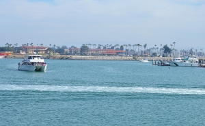 Ventura Harbor boat going out