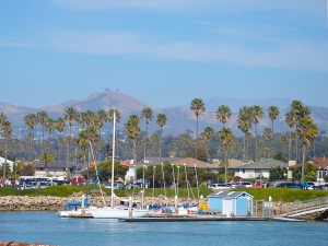 Ventura Harbor towards Mts.