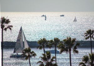 Laguna Newport harbor sail boat