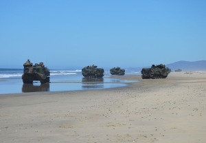 Camp P Tanks on Beach