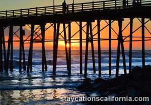Sunset close up pier 2