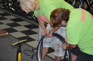 Fixing bike tire