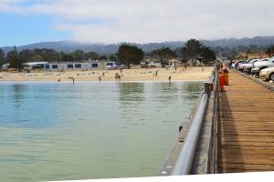 Monterey Wharf toward beach