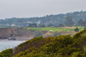 Pebble Beach in distance