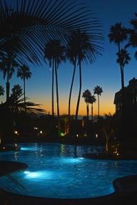 Pool lit up vertical