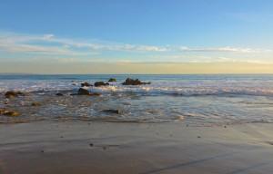 Malibu beach formations