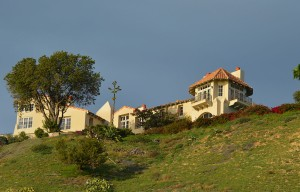 Malibu house on the hill