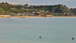 Malibu looking at surfers