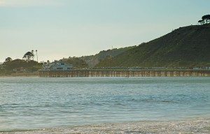 Malibu pier in the distance