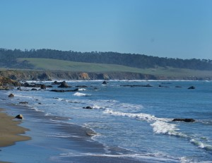 Cambria--Looking south from the pier
