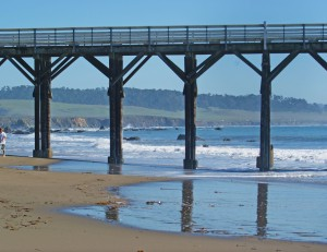 Cambria--Pier with coast in background