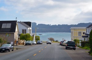 Mendo--Looking down street towards water
