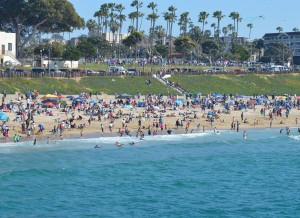 Redondo-Crowded Beach
