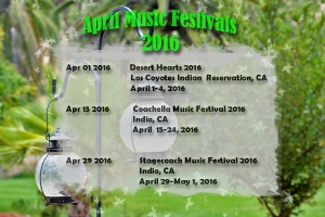 Music Festivals April